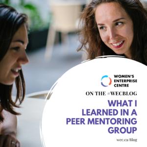 Peer Mentoring Group for Women - Takeaways Blog