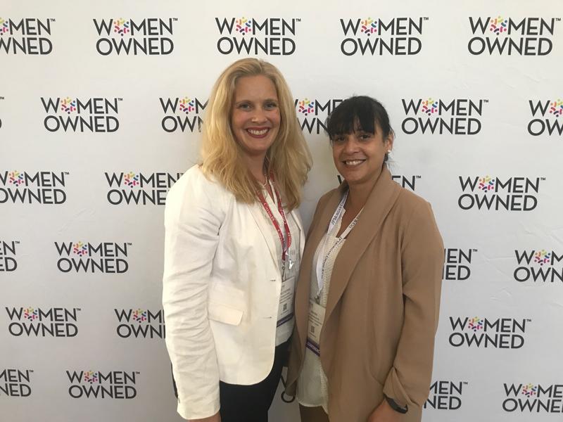 Kath with Marcela Mandeville, CEO of Alberta Women Entrepreneurs