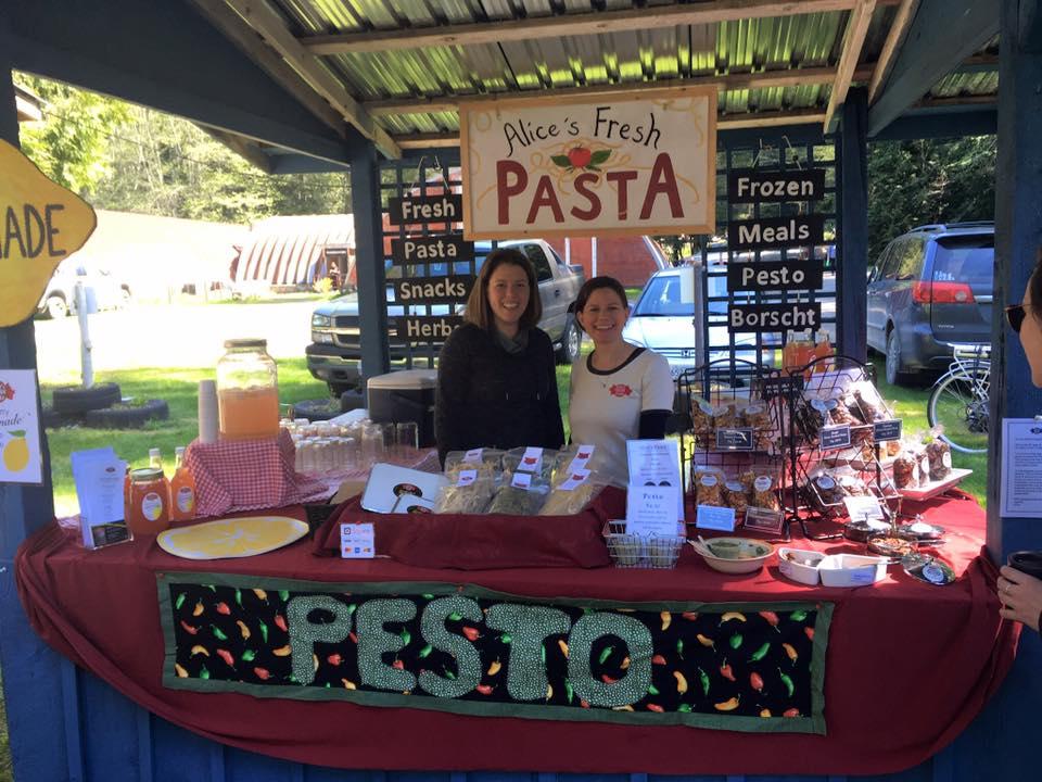 Alice's Fresh Pasta at the market